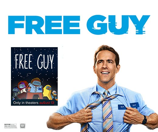 """Free Guy - 13"""" x 19"""" Mini Poster (Imposters)"""