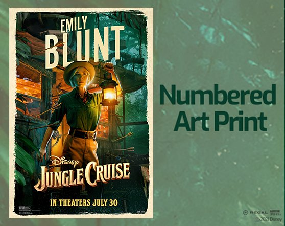 """Jungle Cruise Emily Blunt - RealD 13"""" x 19"""" Numbered Art Print"""
