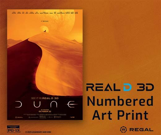 """Dune- 13"""" x 19"""" Real D Numbered Art Print"""