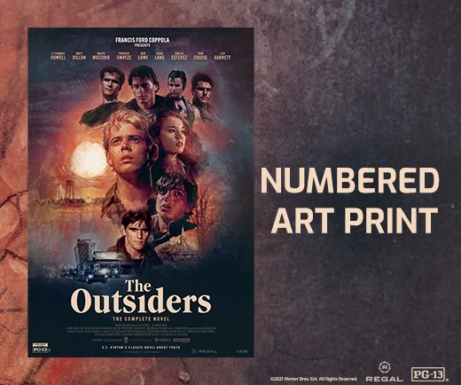 """The Outsiders- 13"""" x 19"""" Numbered Art Print"""