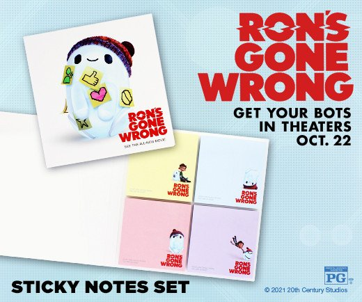 Ron's Gone Wrong - Sticky Note Set